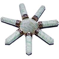 Humunize 7 Punkte Amazonite Generator Reiki-Energie-Generator Pyramide Stein Spirituell Kristalltherapie Feng... preisvergleich bei billige-tabletten.eu
