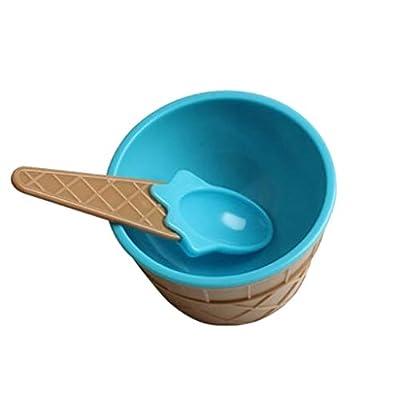 Kit Plastique Crème Glacée Bol Spoon Dessert Cup Bowl Jouet Enfant Cuisine