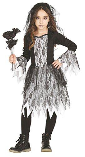 KINDERKOSTÜM - GOTHIC GIRL - Größe 100-115 cm ( 5-6 Jahre (Mädchen Kostüme Für Ghost Girl)