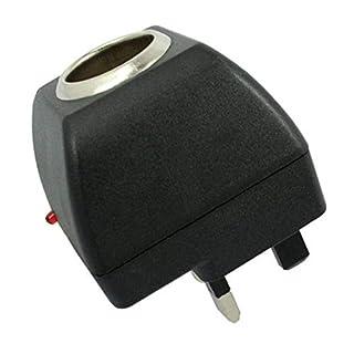 JRing UK Car Charger Power Adapter, Cigarette Lighter Socket AC to DC Power Supply Adapter Inverter 220V to 12V 500mA UK Plug for Car Van Truck Electric