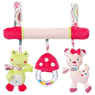 JJOVCE Baby Animal Car Stroller Bed Hanging Toy Cute Soft Plush Toy for Newborn Girls Boys Toddlers