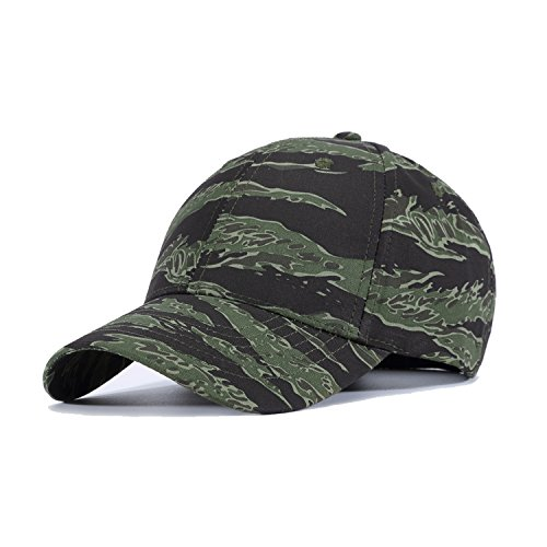JEEDA Sports Hat Atmungsaktive Outdoor Laufmütze Camo Baseballmützen 6 Panel Baseball Cap Camouflage Cap -