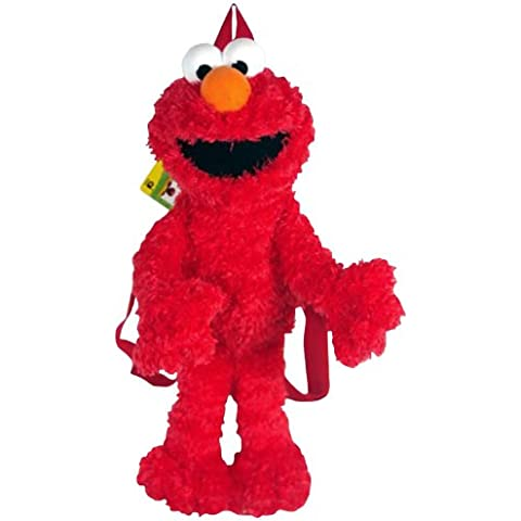 "Zainetto in peluche Elmo Sesame Street, Doll-Bambola morbida ""SS 1000-4 Toys"