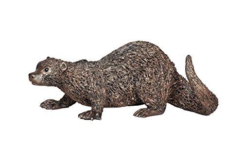 """Marke Neues Modell. """"Otter hockend, 'kalt gegossen Bronze Skulptur von Veronica Ballan–Frith"""