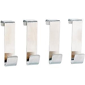 4 teilige Türhaken Kleiderhaken Badezimmerhaken Edelstahl (4)