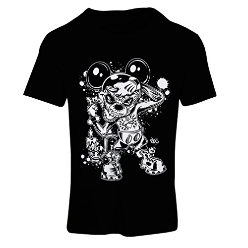 Frauen T-Shirt a mouse with an amazing Halloween costume -party outfits (Large Schwarz Mehrfarben)