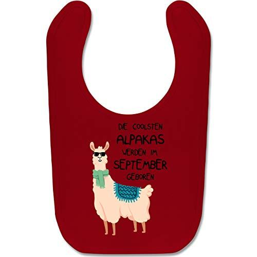 Shirtracer Geburtstag Baby - Die coolsten Alpakas werden im September geboren Sonnenbrille - Unisize - Rot - BZ12 - Baby Lätzchen Baumwolle