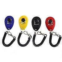 Lot de 4 Clicker acoustique pour dressage de chien avec bande spirale clicker avec dragonne élastique pour animal de compagnie
