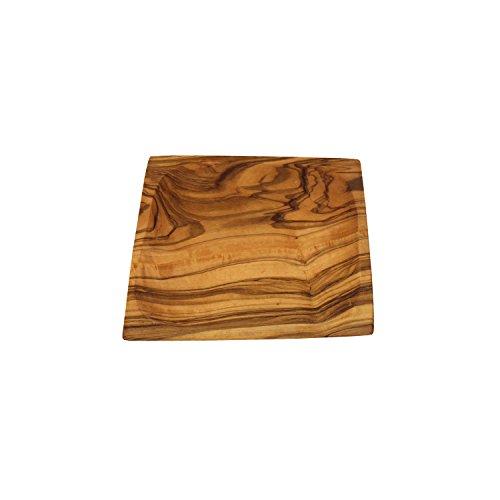 41tMOA582CL - Schälchen aus Olivenholz viereckig 13 cm | Handarbeit | Grillzubehör | perfektes Geschenk für Grill Liebhaber