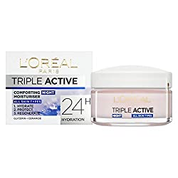 Loreal Triple Active Comforting Night Moisturiser Cream 50ml With Ayur Product in Combo