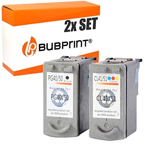 2 Bubprint Druckerpatronen kompatibel für Canon PG-40 CL-41 für Pixma IP1200 IP1600 IP2200 IP2600 MP140 MP150 MP160 MP170 MP180 MP190 MP210 BK Color