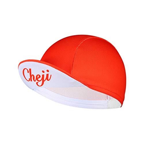 GWELL Frisch Bandana Cap mit Rand Brim Atmungsaktiv Kopftuch Bikertuch UV Schutz Fahrrad Erwachsene Radsport Rot