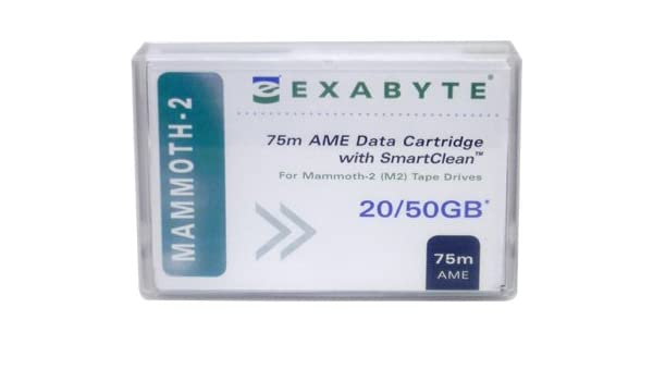 Exabyte Mammoth2 20//50GB 8MM 75M AME with Smartclean New