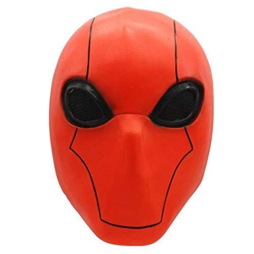 FUGUI Spandex Costume Red Hood Mask für Rosenmontag Karneval Kostüm (Red Hood Helm Kostüm)