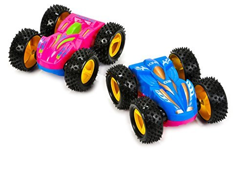 2 Friction Rev Em Up Toy Racing Flip Cars Set Costume Accessory by Rhode Island Novelty - Rhode Island Costume