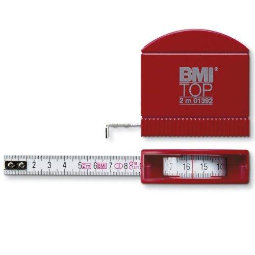 BMI 407341010 Taschenbandmaß Top mit Innenmessung, Länge 3 m, weisslackiertes Band