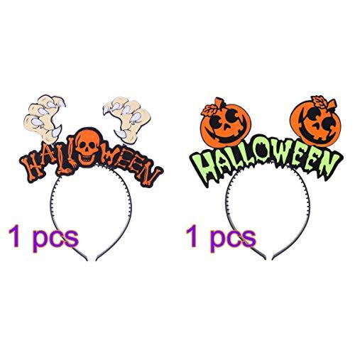 rty Stirnband Kürbis Schädel dekorative Haarband lustige Party Dress Up Haarspange Halloween Kostüm Zubehör Kopfbedeckungen ()