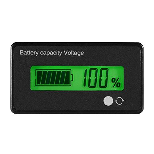 XCSOURCE® Impermeable 12/24 / 36 / 48V LCD Batería de ácido sólido y 3.7V Probador de capacidad de la batería de litio Monitor de voltaje del medidor w / Verde retroiluminado para batería del vehículo TE620