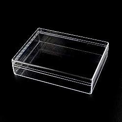 NBEADS - Caja de Almacenamiento Rectangular de plástico Transparente con Tapa para organizar Piezas pequeñas, Cuentas, cucarachas de algodón, Adornos