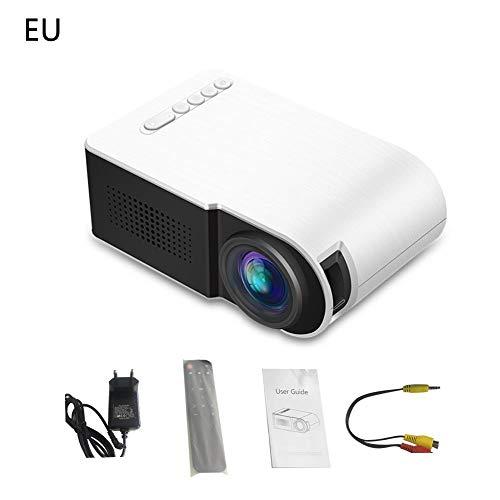Falliback Mini Beamer YG210 Projektor Mini Home Projektor für tragbare HD 1080P Heimkino-Projektor Weiß Tragbar Reisen( Weiß )