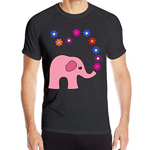 Elefante para Hombre Imágenes prediseñadas Camisetas de Manga Corta Camiseta Deportiva de Secado rápido