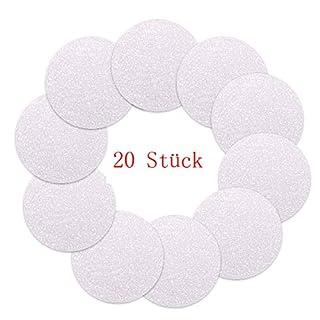 VINP 20 STK Anti-Rutsch Sticker für Badewanne, Dusche und Bad, Transparent und Selbstklebend,10mm Durchmesser (20 STK)