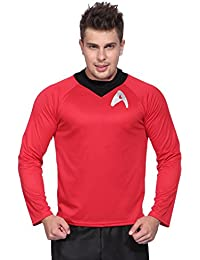 Star Trek Herren Maenner Fun T-Shirt Unform Shirt Spock Logic Kostuem Fasching Karneval Halloween