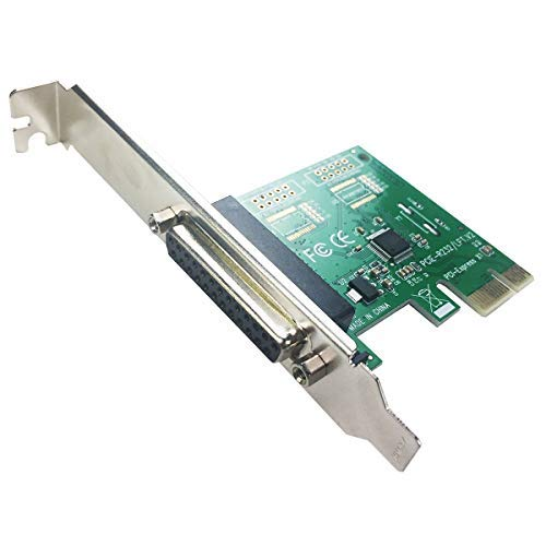 GLOTRENDS PCIE auf 1-Port-DB25-LPT-Erweiterungskarte mit niedrigem Profil (PCI-E-IP) - Pci-express-x1-karte