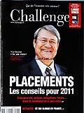 Telecharger Livres CHALLENGE No 229 du 21 10 2010 PLACEMENTS LES CONSEILS POUR 2011 JEAN PIERRE GAILLARD RETRAITES CE QUI BLOQUE EN FRANCE (PDF,EPUB,MOBI) gratuits en Francaise