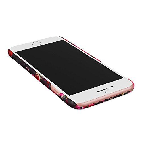 Fuck You Very Much Pink Roses Pattern Dünne Rückschale aus Hartplastik für iPhone 7 Plus & iPhone 8 Plus Handy Hülle Schutzhülle Slim Fit Case cover Love