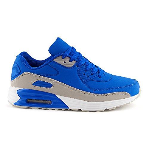 Fivesix Uomo Donna Sneaker Scarpe Sportive Allacciatura Running Tempo Libero Fitness Ammortizzazione Scarpe Basse Unisex Blu / Grigio-m