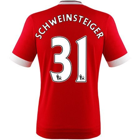adidas Herren Manchester United Schweinsteiger Trikot Home 2016 rot L