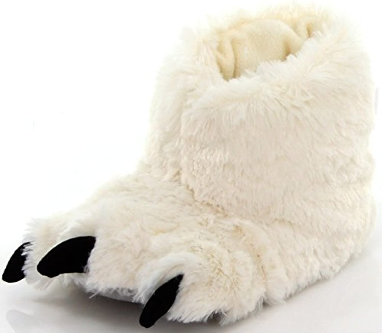 LazyOne Unisexo White Bear Paw Zapatilla Niño -