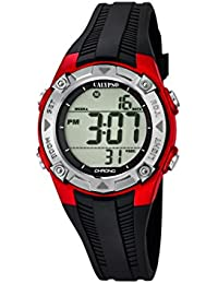 Calypso - K5685/6 - Montre Garçons - Quartz - Digitale - Alarme - Chronomètre - Bracelet plastique noir