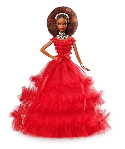 Barbie Magia delle Feste 2018 Bambola Mora da Collezionare per Natale, FRN70