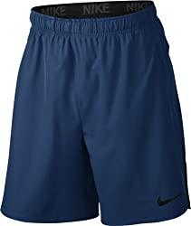 Nike Mens Sportswear Short Pants DRI-FIT Flex Vent Short Mens Binary Blue / Black / (Black) 833371-429 (Small)