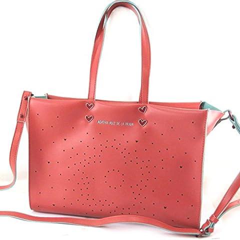 'french touch' tasche 'Agatha Ruiz De La Prada'rot - perforiertes herzen.