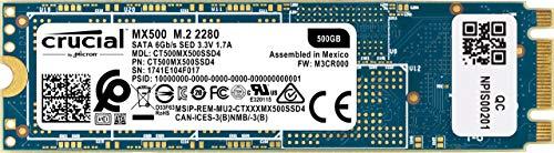Crucial MX500 CT500MX500SSD4 500GB (3D NAND, SATA,...