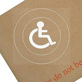 1x Behinderte Logo only-round-window sticker-sign, Auto, Badge, Hinweis, Achtung, Rollstuhl, Treiber, Kind, Behinderungen, Rampe, Zugriff, blau, Badge, ich, bin, Person