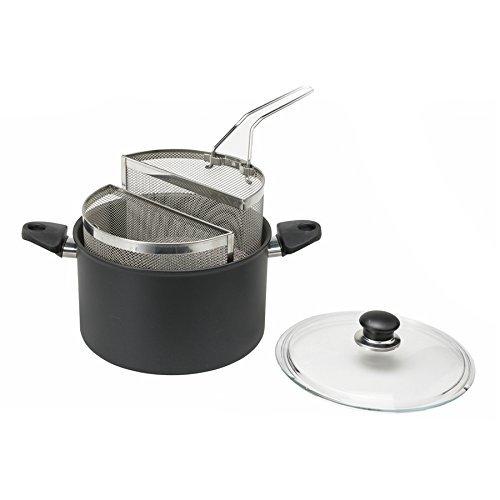 BALLARINI ATSP15 Pastatopf mit 2 Einsätzen und Glasdeckel 24 cm