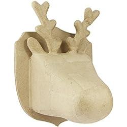 Decopatch - Trofeo de caza (tamaño mediano), diseño de reno, color marrón