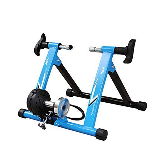 EODUDO-S Variabler Widerstand Indoor Bike Trainer für Straßen- und Mountainbikes Drahtgesteuerte Indoor Mountain Road Trainingsplattform Turbo Trainer, Weitere Stile (Farbe : Blau, Größe : 26-28') -