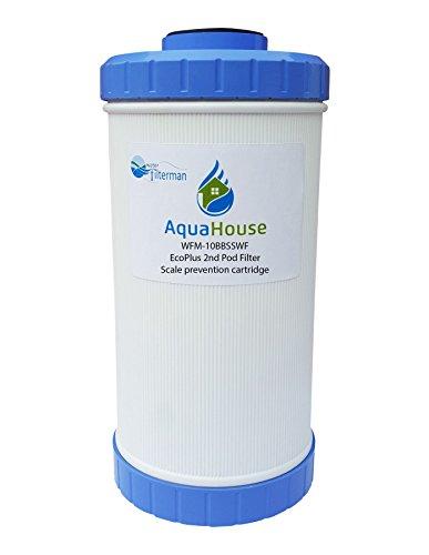 WFM-10BBSSWF Ersatzmaßstabsverhinderungsfilter für EcoPlus 2. Pod & NSWS Salzfreie Wasserenthärter Alternative - AquaHouse / Water Filter Man Ltd Branded