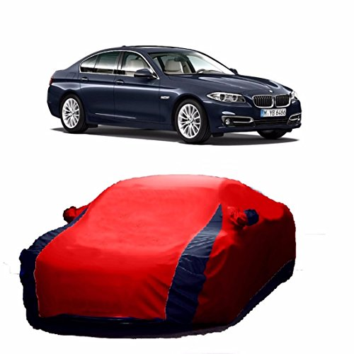 MotRoX Lively Water Resistant Car Body Cover for BMW 5 Series (Red & Blue - V Shape)