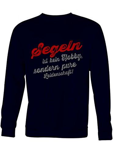 Segeln Sweatshirt | Segel-Pullover | Hobby | Leidenschaft | Unisex | Sweatshirts, Farbe:Schwarz;Größe:XL