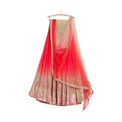 AMIT FASHIONS Exklusive indische Designer Semi Stitch Lehenga Choli für Frauen