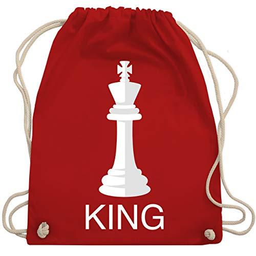 Karneval & Fasching - Kings Schachfigur Karneval Kostüm - Unisize - Rot - WM110 - Turnbeutel & Gym Bag