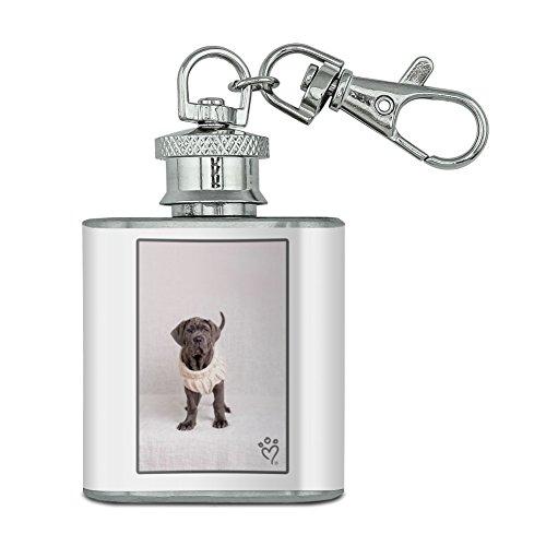 Neapel Mastiff Hund Nifty Pullover Unzen Edelstahl Mini Fläschchen Schlüssel Kette (Mastiff Kette)