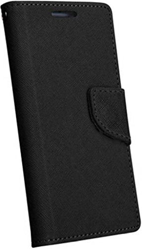 Om Synthetic Leather Mercury Flip Cover For Vivo Y27L - Black