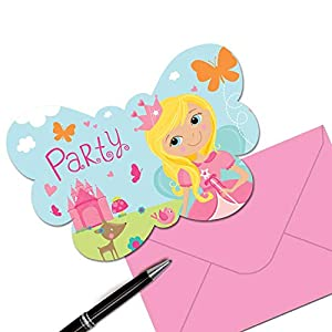 Amscan 491623Woodland Princesa Invitaciones
